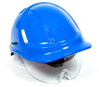 Safety Helmet Retractable Eyeshield