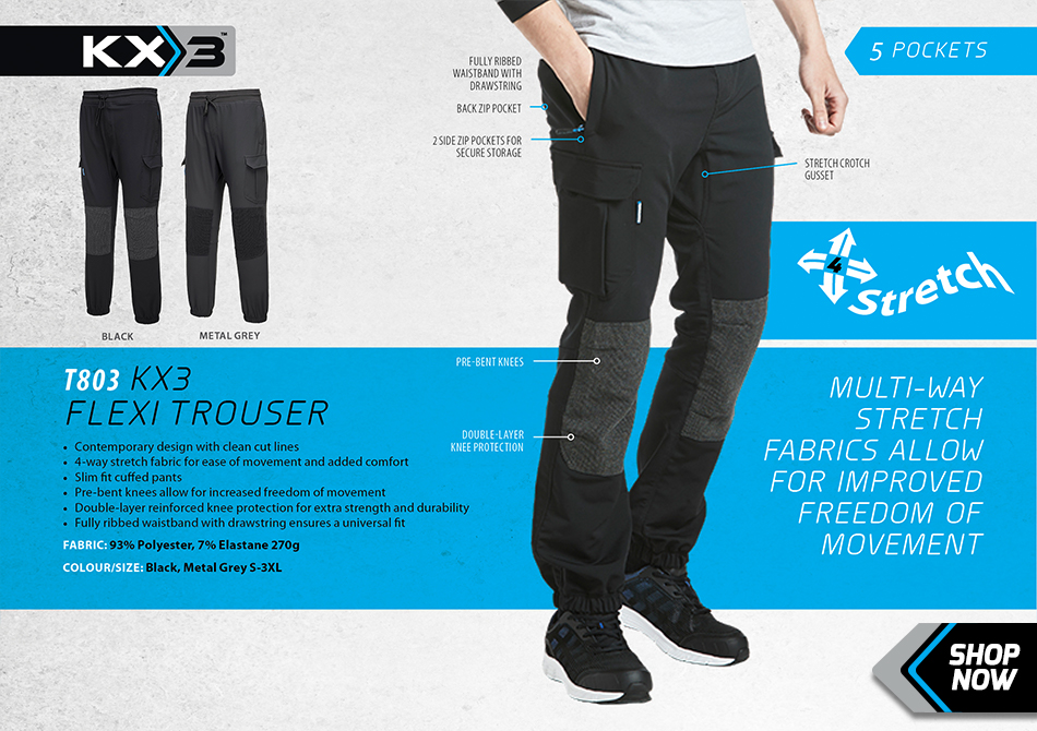 Portwest T803 KX3 Flexi Stretch Trousers