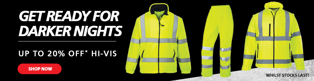 Up To 20% OFF Hi-Vis - Shop Now Whilst Stocks Last!