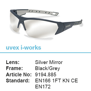 uvex i-works Anthracite/Grey Frame Silver Mirror Lens Spec