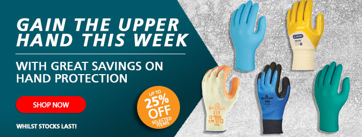 Gain The Upper Hand This Week with Great Savings on Hand Protection