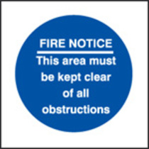 Fire Notice/area Keep Clear (Self Adhesive Vinyl,200 X 200mm) (21613F)