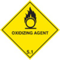 Oxidising Agent Diamond (Rigid Plastic,100 X 100mm)
