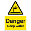 Danger Deep Water (Rigid Plastic,400 X 300mm)