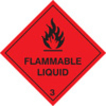 Flammable Liquid (Rigid Plastic,100 X 100mm)