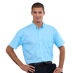 933M Mens Short Sleeve Aztec Blue Shirt