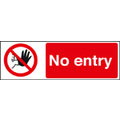 No Entry Safety Sign Self Adhesive Vinyl