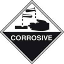 Corrosive (Rigid Plastic,100 X 100mm)