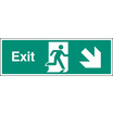 Exit - Down & Right (Self Adhesive Vinyl,450 X 150mm) (22014L)