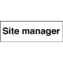 Site Manager (Self Adhesive Vinyl,300 X 100mm)