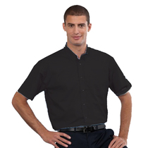 933M Mens Short Sleeve Black Shirt