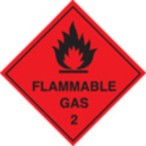 100 S/a Labels 100x100 Flammable Gas
