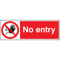 No Entry (Rigid Plastic,200 X 150mm)