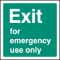 Exit Emergency Use (Self Adhesive Vinyl,200 X 200mm) (22042F)