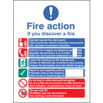 Fire Action (photo. Rigid Plastic,300 X 250mm) (31436H)