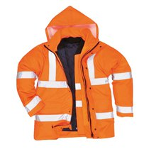 S468 Portwest Hi-Vis 4-In-1 Traffic Jacket Orange