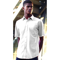 65116 Mens Short Sleeve White Poplin Shirt