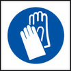 Hand Protection Symbol (Self Adhesive Vinyl,200 X 200mm)