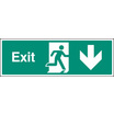 Exit - Straight Down (Self Adhesive Vinyl,450 X 150mm) (22016L)