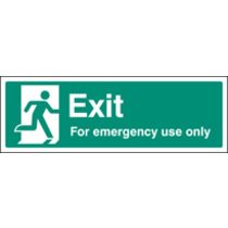 Exit For Emergency Use Only (Rigid Plastic,450 X 150mm)