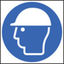 Safety Helmet Symbol (Rigid Plastic,200 X 200mm)