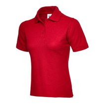 UC106 Red 220gsm Ladies Pique Polo Shirt