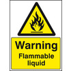 Flammable Liquid (Self Adhesive Vinyl,200 X 150mm)