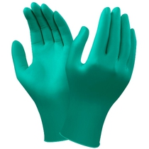 Ansell 92-500 Touch N Tuff Nitrile Disposable Gloves - Green Lightly Powdered