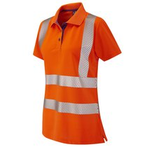 PIPPACOTT Orange Coolviz Ladies Polo Shirt ISO 20471 Cl 2