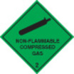 Non-flammable Compressed Gas 2 (Self Adhesive Vinyl,200 X 200mm)