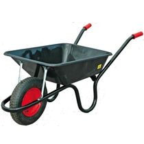 85L Black Wheelbarrow - Pneumatic Tyre