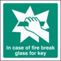 Break Glass Symbol (Self Adhesive Vinyl,200 X 200mm) (22044F)