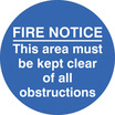 Floor Graphic 400mm Dia Fire Notice