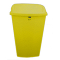 50L Swing-Top Bin Yellow