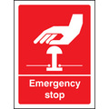 Emergency Stop (Rigid Plastic,100 X 75mm)
