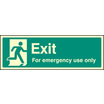 Exit For Emergency Use Only (photo. Self Adhesive Vinyl,300 X 100mm)