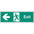 Exit Left (Rigid Plastic,300 X 100mm)