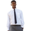 65118 Mens Long Sleeve White Poplin Shirt