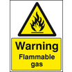 Flammable Gas (Self Adhesive Vinyl,200 X 150mm)