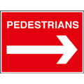 Pedestrians Arrow Right Size: Q 600 x 450mm