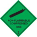 Non-flammable Compressed Gas 2 (Self Adhesive Vinyl,100 X 100mm)