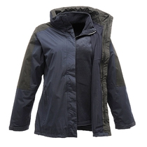 Regatta TRA132 Ladies Defender III 3-In-1 Jacket - Navy/Black