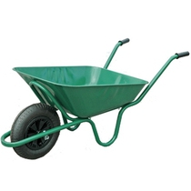 90L Green Wheelbarrow - Pneumatic Tyre