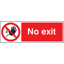 No Exit (Rigid Plastic,400 X 300mm)