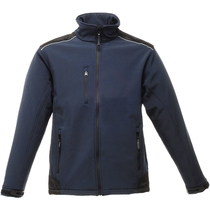 Regatta TRA651 Sandstorm Softshell Jacket - Navy/Black