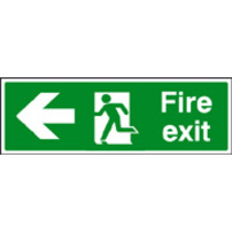 Fire Exit - Left (photo. Rigid Plastic,300 X 100mm)