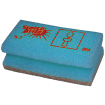 130mm x 70mm Foam Backed Scourer - Furniture (Blue)