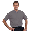 933M Mens Short Sleeve Silver Shirt
