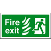 Fire Exit Photo Htm (right) (photo. Self Adhesive Vinyl,300 X 150mm)