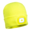 Beanie Hat With Rechargeable Usb Light - Yellow